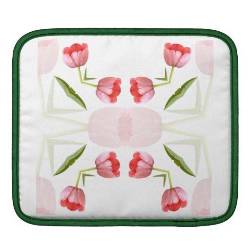 Pink Tulip Kaleidoscope Pattern iPad Sleeve