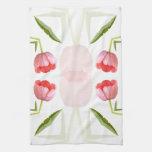 Pink Tulip Kaleidoscope Pattern Towel
