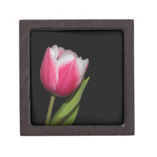 Pink Tulip Keepsake Box