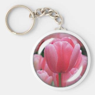 Pink Tulip Keychain