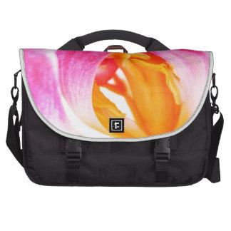 pink tulip laptop messenger bag