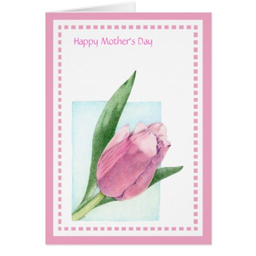 Pink Tulip Mother's Day Card