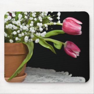 Pink Tulip Mouse Pad