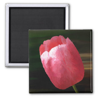 Pink Tulip Painting Magnet