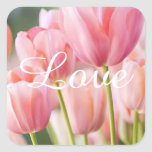 Pink Tulip Stickers and Envelope Seals