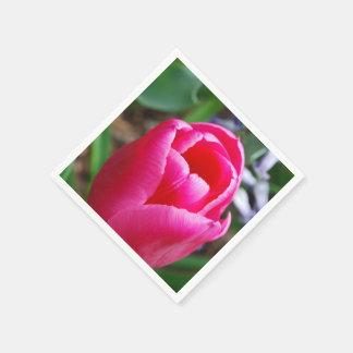 Pink Tulip Disposable Napkin