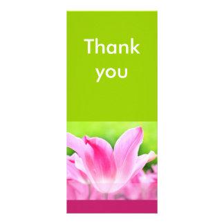 Pink tulip Thank you card Customized Rack Card