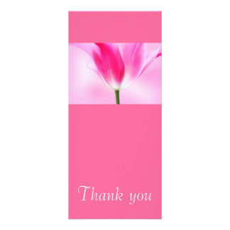 Pink Tulip, Thank you card Rack Cards