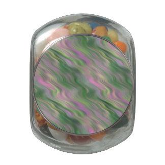 Pink Tulip Wavy Texture Glass Jars