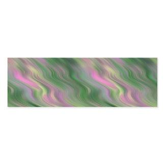 Pink Tulip Wavy Texture Mini Business Card
