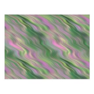 Pink Tulip Wavy Texture Postcard