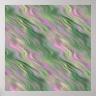Pink Tulip Wavy Texture Poster