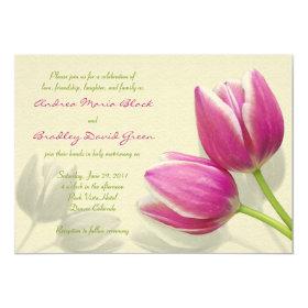 Pink Tulip Wedding Invitation 5