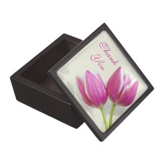 Pink Tulip Wedding Thank You Gift Box
