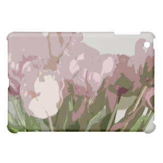 - Pink Tulips (abstract) Cover For The iPad Mini