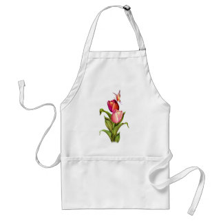 Pink Tulips Adult Apron
