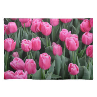 Pink Tulips American MoJo Placemat Cloth Place Mat