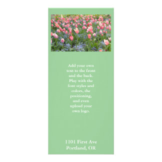 Pink Tulips and Forget-Me-Nots Rack Card
