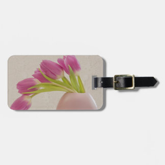 Pink Tulips And Lace Luggage Tag