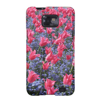 Pink Tulips and purple flowers Galaxy S2 Cases