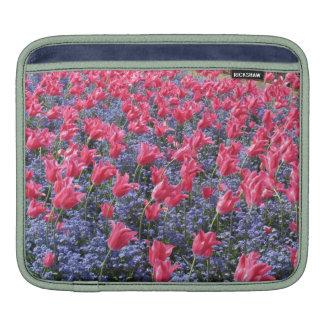 Pink Tulips and purple flowers iPad Sleeve