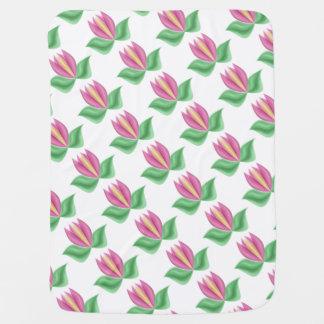 Pink Tulips Baby Blanket