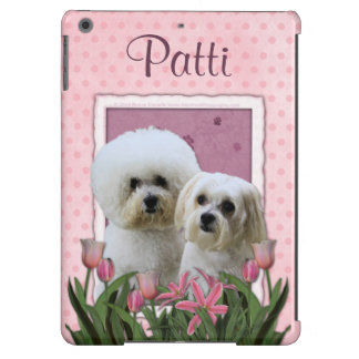 Pink Tulips - Bichon and Maltese iPad Air Cases