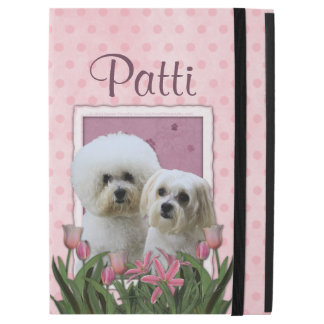 Pink Tulips - Bichon and Maltese iPad Pro Case