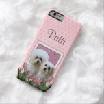 Pink Tulips - Bichon and Maltese iPhone 6 Case