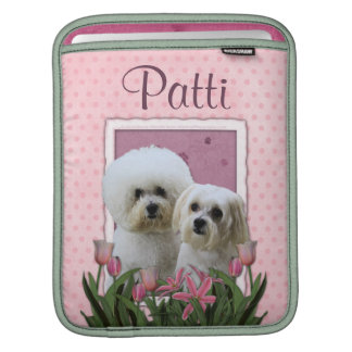 Pink Tulips - Bichon and Maltese Sleeve For iPads