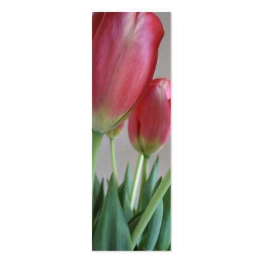 Pink Tulips Bookmarks Business Cards