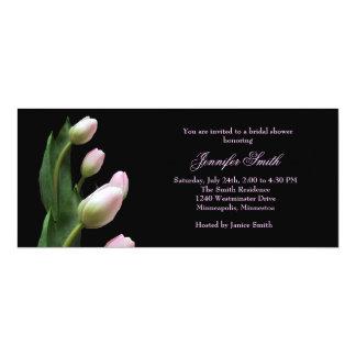 Pink Tulips Bridal Shower Invitation