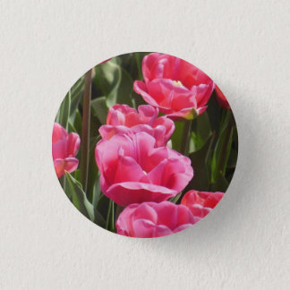 Pink Tulips Button
