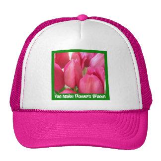 Pink Tulips Cap Trucker Hat