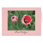 """""""Pink Tulips"""" Card"""