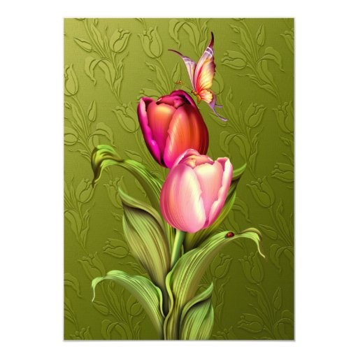 Pink Tulips Card