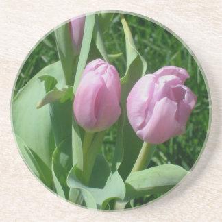 Pink Tulips Coaster