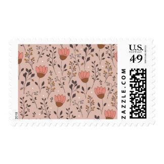 Pink Tulips | Doodle art Postage stamp