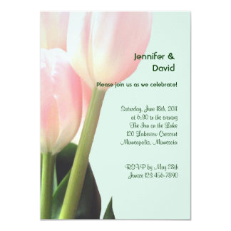 Pink Tulips Engagement Announcement