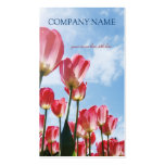 Pink Tulips Field - Business Card