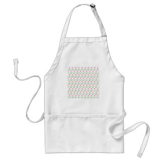 Pink Tulips Floral Pattern Adult Apron