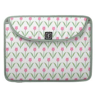 Pink Tulips Floral Pattern MacBook Pro Sleeves