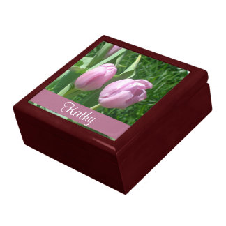 Pink Tulips Flower Gift Box