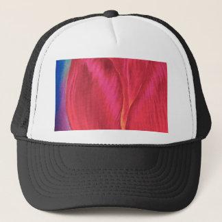 Pink Tulips Flowers Painting Art - Multi Trucker Hat