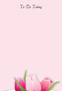 Pink flowers to do list gifts on zazzle pink tulips flowers to do list post it notes mightylinksfo