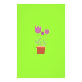 Pink tulips flyer