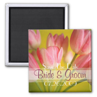 Pink tulips  for Save The Date Magnet