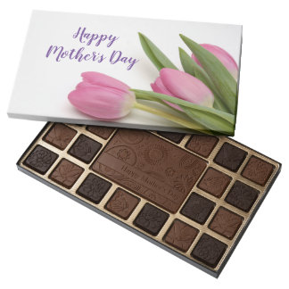 Pink Tulips Happy Mother's Day Assorted Chocolates