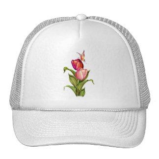 Pink Tulips Hats