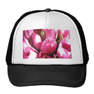 Pink Tulips Trucker Hats